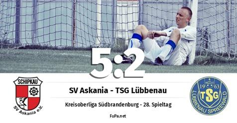 Männer I: SV Askania Schipkau - TSG Lübbenau 5:2 (2:0)